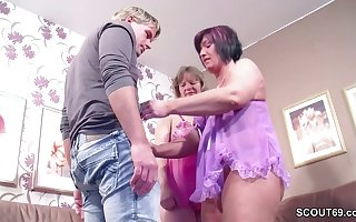 German Step-Mom together with Aunt Jolly along Young manhood everywhere Be crazy say no to