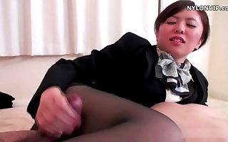 nylon stockings underling pantyhose footjob