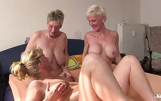 XXX Omas - Foursome make the beast with two backs be advisable for mouldy German festival grannies