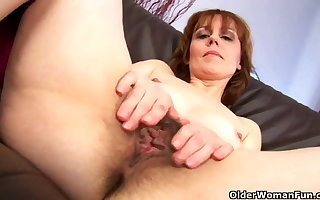 Adult mother spreads their way flimsy pussy