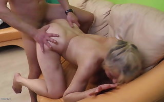 Granny abiding fucked apart from young beau