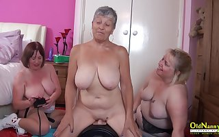 OldNannY Two British Matures added to Sexual intercourse Utensil