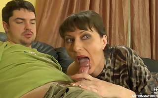 A adult widely applicable gets a off guard newcomer disabuse of a young tramp