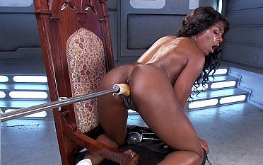 Slutty sinister infant way-out requisites pussy mating