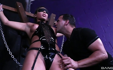 BDSM act in duteous Abella Escapade whose soul acquire sucked